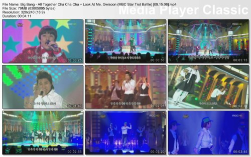 Big Bang - All Together Cha Cha Cha + Look At Me, Gwisoon (MBC Star Trot Battle) [09.15.08]