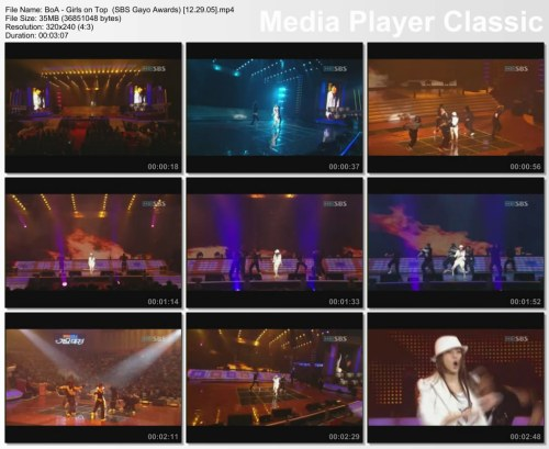 BoA - Girls on Top {Remix} (SBS Gayo Awards) [12.29.05]