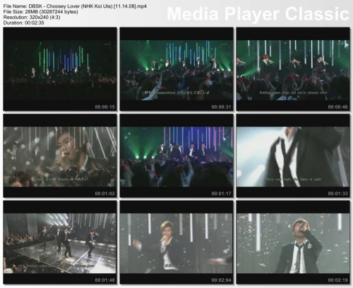 DBSK - Choosey Lover (NHK Koi Uta) [11.14.08]