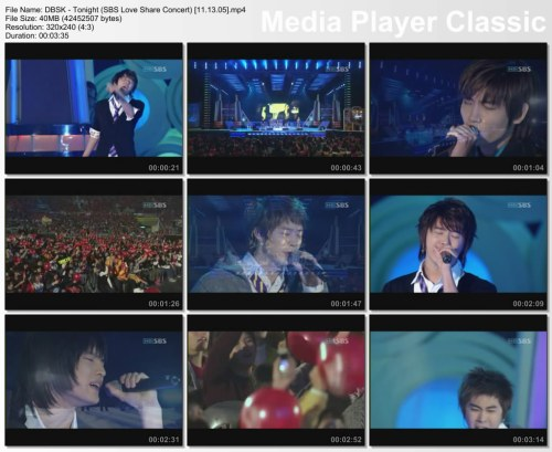 DBSK - Tonight (SBS Love Share Concert) [11.13.05]