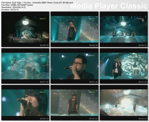 Epik High + Younha - Umbrella (MBC Music Core) [07.26.08]