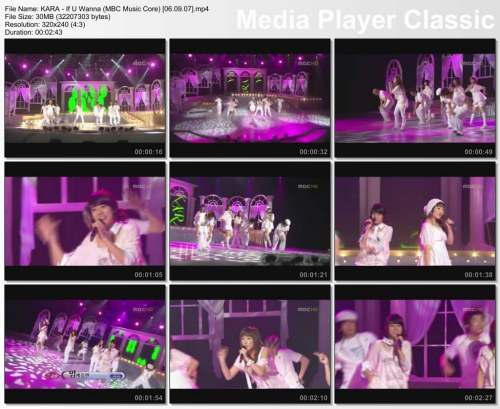 KARA - If U Wanna (MBC Music Core) [06.09.07]