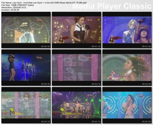 Lee Hyori - Invincible Lee Hyori + U-Go-Girl (KBS Music Bank) [07.18.08]