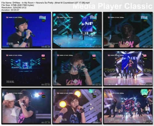 SHINee - In My Room + Noona's So Pretty {Remix} (Mnet M Countdown) [07.17.08]