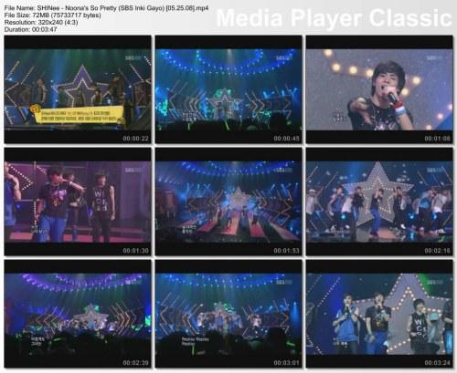 SHINee - Noona's So Pretty (SBS Inki Gayo) [05.25.08]
