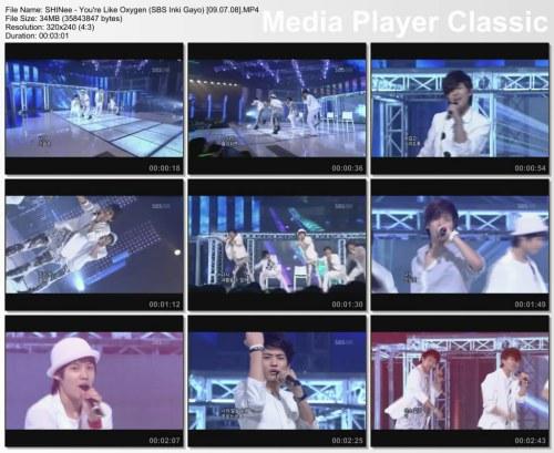 SHINee - You're Like Oxygen (SBS Inki Gayo) [09.07.08]