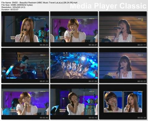 SNSD - Beautiful Restraint (MBC Music Travel LaLaLa) [06.24.09]