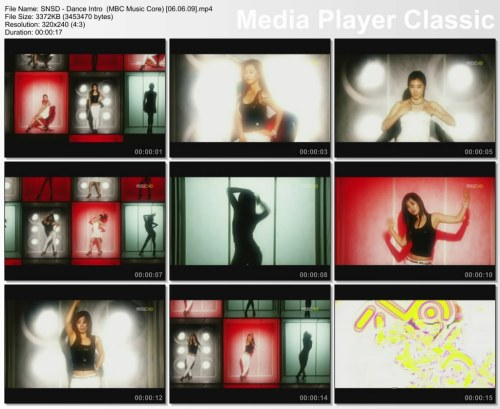 SNSD - Dance Intro {Tiffany + Yuri} (MBC Music Core) [06.06.09]